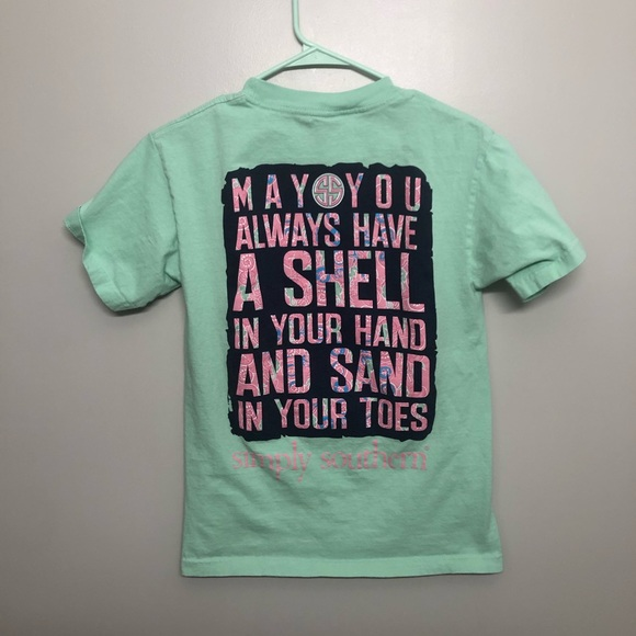 Simply Southern Tops - Simply southern shell in your hand beach t shirt